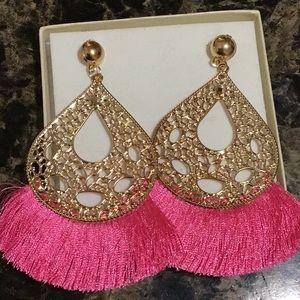 Tassel Teardrop Earrings